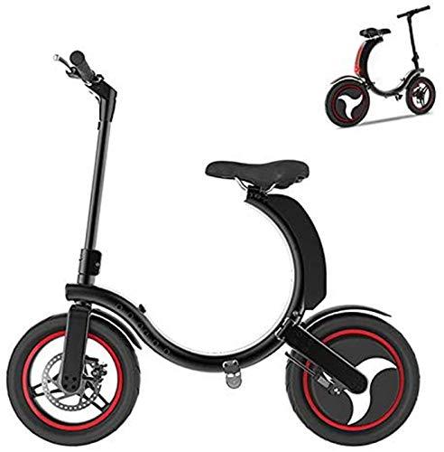 Bicicleta eléctrica de nieve, Bicicleta eléctrica para adultos, portátil 36V 9.8AH Li-ion eléctrico plegable e-bike, control de aplicaciones móviles Bicicleta Batería de litio Playa Cruiser para adult