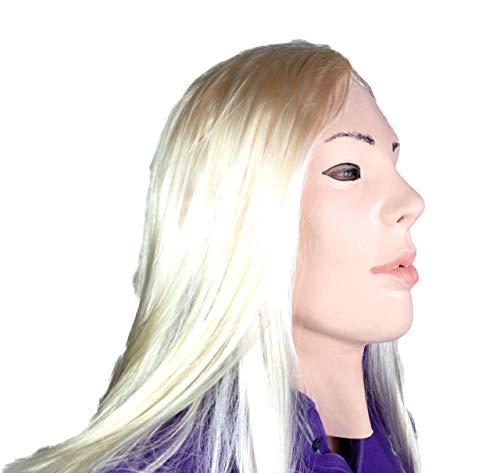 Blonde Girl Maske Full Head Film Qualität