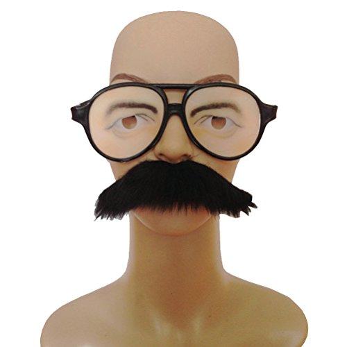 luoem Brille Kostüm mit falschen Schnurrbart Auto Klebeband