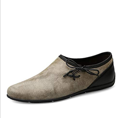 Jiedi Herrenschuhe Handgefertigte Casual Driving Schuhe Slip-Ons Loafers Schuhe Wanderschuhe (Farbe : EIN, Größe : 38)