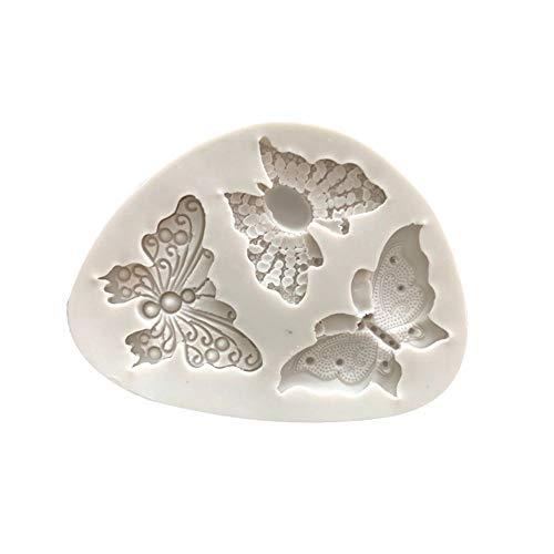 Hunpta@ Mould Weihnachten, Schmetterlings-Form-Silikon-Fondant-Kuchen-Form, die Schokoladen-Backformen-Form verziert (Weiß)