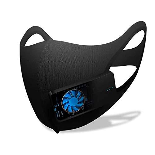 Protector facial inteligente eléctrico, protector Purificador de aire deportivo reutilizable Ambientador Respiración Protectora saludable Filtro de carbón activado lavable para ciclismo al aire libre