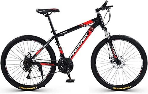 Bicicleta de montaña 21 Velocidad de bicicletas bicicletas, marco de aleación de aluminio, con cierre delantero Tenedor, doble freno de disco, Off-Road de la bici for el estudiante Hombres Mujeres