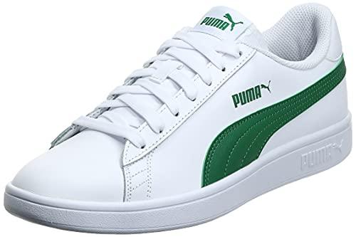 PUMA Smash v2 L, Scarpe da Ginnastica Unisex-Adulto, Bianco White-Amazon Green, 42 EU