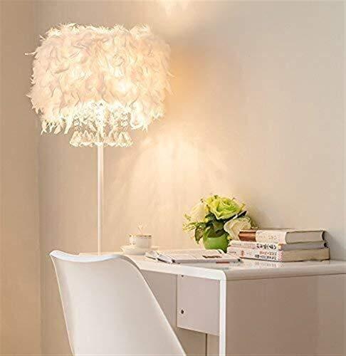 ZLININ Conducido cristalino Creativo de la Pluma de la Sala de Estar Dormitorio lámpara de cabecera Eye-Cuidado Vertical luz del Piso