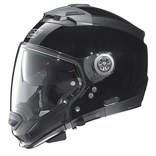 Nolan N 44 EVO CLASSIC N-COM Crossover helme, Farbe: Glänzendy Schwarz, Größe: 3XL