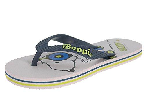 Beppi Jungs Badelatschen Strandschuhe Zehentrenner Snoopy 35