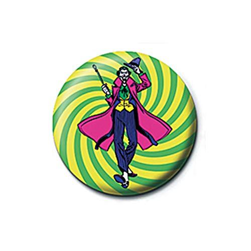Pritties Accessories Echte DC Comics Joker Swirl Taste Abzeichen Stift Retro Gotham Batman