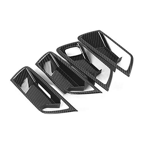 Development 4 unids de fibra de carbono manija de la puerta de la puerta de la puerta del tazón de la cubierta de la cubierta del recorte del recorte de la decoración del estilo del coche para Ford Fo