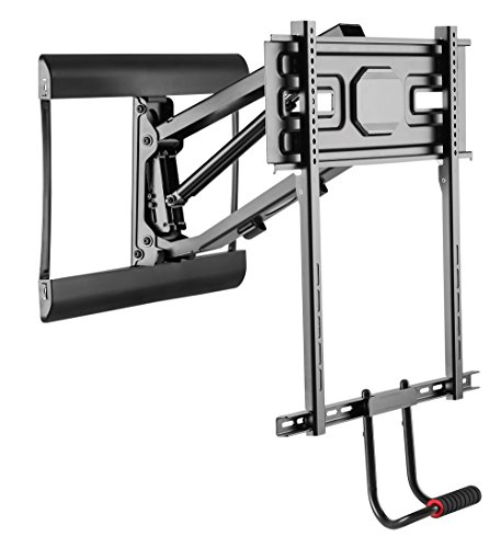 MyCableMart Full Motion Fireplace Drop-Down Wall Mount Bracket 43-70'' TVs to 77 lbs