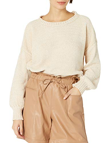 KENDALL + KYLIE Women's Balloon Sleeve Crew Neck Sweater - Amazon Exclusive