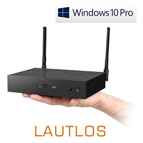 Mini-PC - CSL Narrow Box Ultra HD Storage Line Pentium / 120GB / 4GB / Win 10 Pro - Silent-PC mit Intel-CPU 4X 2600MHz, 120GB SSD, 4GB RAM, Intel HD, AC WLAN, USB 3.1, HDMI, Bluetooth, Windows 10 Pro