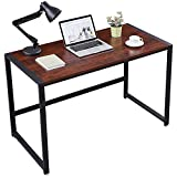 HEYTOWN Computer Desk 47 inch Sturdy Home Office Desk, Modern Simple Style Writing Table Large PC Laptop Workstation for Study Room Bedroom Living Room Office Room, Easy to Assemble