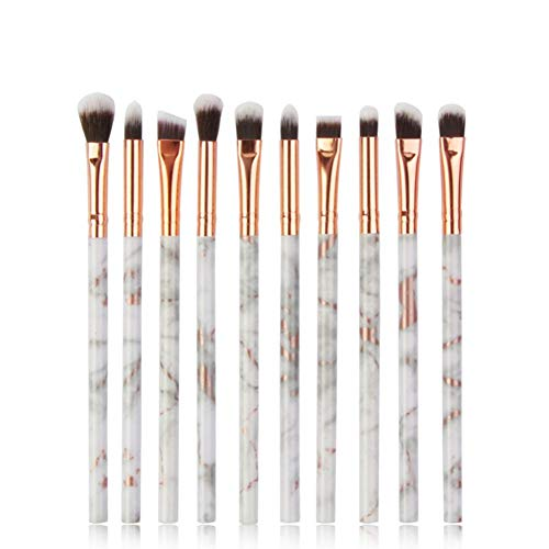 KDBHM Pinceau de Maquillage Multifonctionnel 5/7 / 10Pcs Marbling Makeup Brushes Set Fard À Paupières Eyeliner Concealer Brush Set Mini Maquillage Brush Tool Kit,10pcs-Gris