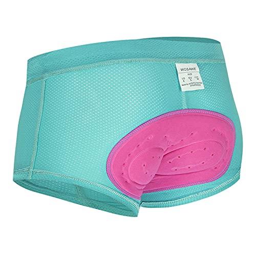 OUTPRO Ropa Interior De Ciclismo para Mujer,Pantalones Cortos Ciclismo 3D Acolchado Ropa Interior para Ciclismo Deporte Al Aire Libre (XL,Azul)