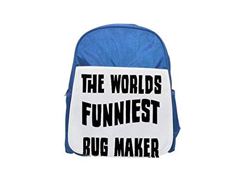Fotomax The World 's FUNNIEST Alfombra Maker Impresión Infantil Azul Mochila Lindo...