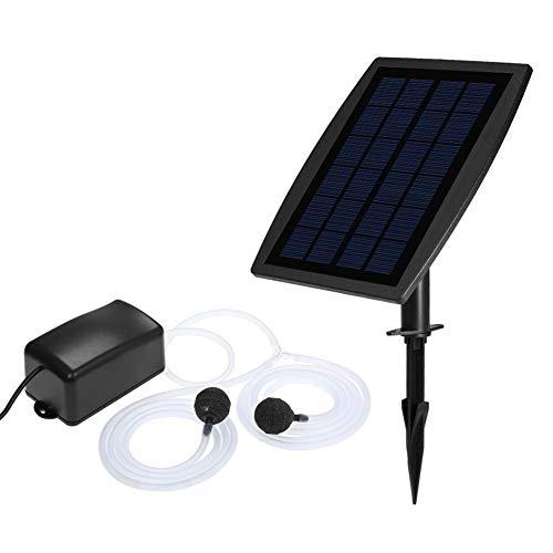 ranninao Bomba de Agua Solar de oxígeno para Plantas de Peces para Bomba de Agua Solar Kit de Bomba Bomba de Agua Fuente de aireador de oxígeno, aireación Solar para Estanque
