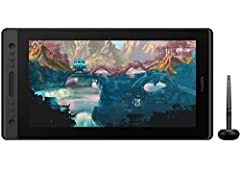 Full Laminated HD Screen: KAMVAS Pro 16 drawing monitor adopts the newest full lamination crafts and anti-glare glass. Compared with traditional screen, full laminated screen will make the cursor on the screen keep close and moves simultaneously to t...