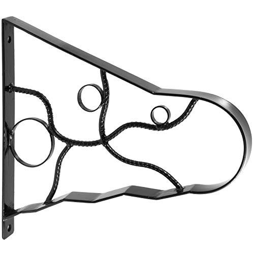 VEVOR Pasamanos Escalera 45.7cm Barandilla Escalera 45.7cm Pasamanos para Escaleras Pasamanos de Pared Montaje en Pared Hierro Forjado Color Negro