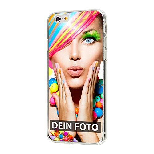 Apple iPhone 6 6s - Handyhülle - Selbst gestalten/Individuell bedruckbar/eigenes Foto oder Text/Silikonhülle Transparent