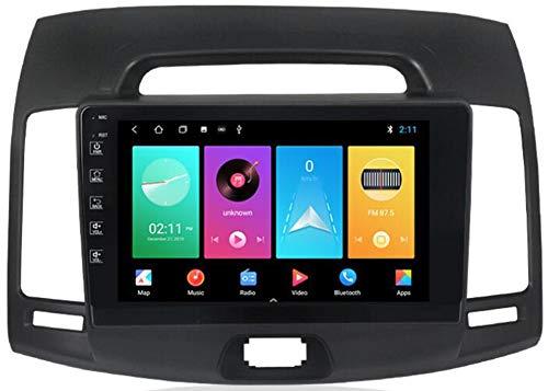 WYFWYT Android Auto 9.0 GPS Navegacion Coches Autoradio para Hyundai Elantra 2006-2011 Reproductor Multimedia 9 Pulgadas Pantalla Táctil Soporte Bluetooth WiFi USB Cámara de Respaldo,WiFi:1g+16g