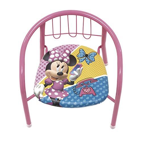 familie24 Kindersessel gepolstert Auswahl Klappsessel Sessel Stuhl Hocker Sofa Kindersessel Kinderstuhl metallsessel Peppa Pig Paw Patrol Micky Minnie Maus (Minnie Maus)