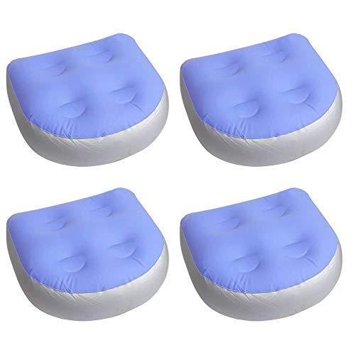 Spa und Whirlpool Booster Sitzpolster mit Saugnapf, Rückenstütze Aufblasbares Massagekissen Rücken Multifunktionale Saugverstärker Sitzlehne Badematte für Spas, Whirlpools, Pool, Erwachsene Kinder