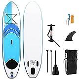 WEUN 305 * 75 * 10 cm Paddle Board, Tablero de Surf Inflable Kayak Stable Stable Stand Up Paddleboard Inflable Paddle Book Completa Paddle Board Kit Aplicar a Adultos y jóvenes