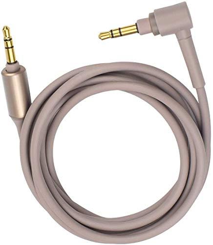 交換用ソニーMDR-10R MDR-1000X WH-1000XM2 WH-1000xm3 WH-CH700N MDR-100ABN MDR-1A MDR-1ADAC MUC-S12SM1ヘッドフォン用のオーディオヘッドホン延長コード(ゴールド)