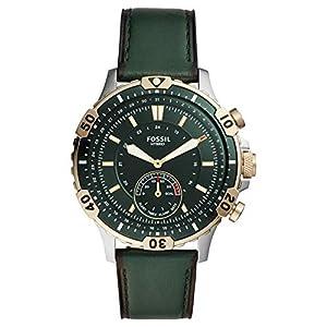 FOSSIL Garrett Reloj Híbrido Smartwatch con Caja de Acero Inoxidable y