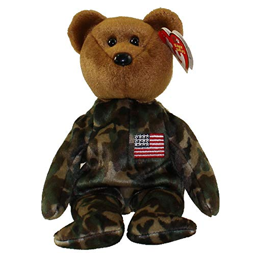 Ty Beanie Babies HERO USA - Bear (Flag on Chest)