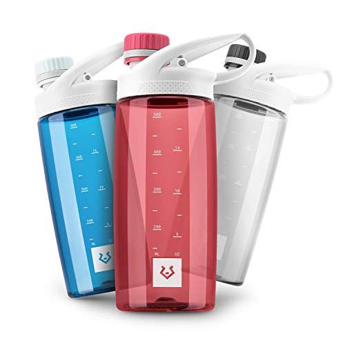Alphatrail Botella Agua Tritan Luke 550ml Rojo I 100% Prueba de Fugas I sin BPA & Ecológicamente I Seguro Lavavajillas I para el ácido de Carbono I para una óptima hidratación en la Naturaleza