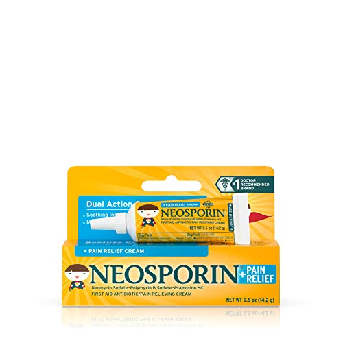 Neosporin First Aid Antibiotic + Pain Relief Cream For Kids, .5 Oz
