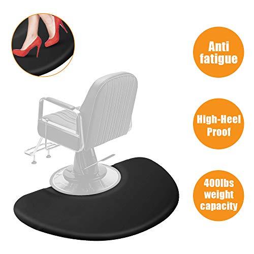 3 ft. x 5 ft. Salon Anti Fatigue Mat for Hair Stylist,Salon Barber Chair Barber Stations Floor Mat,Non Slip,Waterproof,High-Heel Proof,1/2 inch Thick