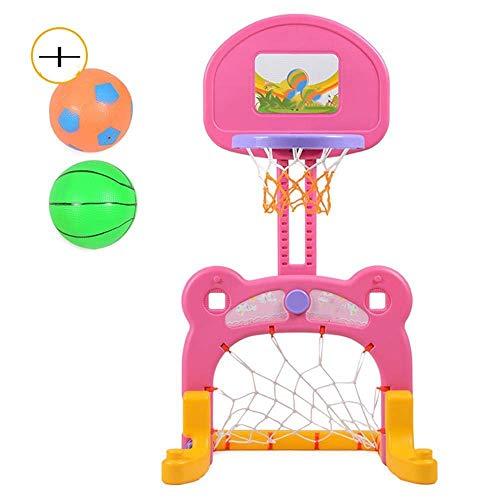 Canestro da pallacanestro regolabile in altezza 100-125Cm Student Two in One calcio e basket poligono di tiro giocattolo esterno coperto for 3 anni in su del bambino del bambino Sport Sport gioco, ver