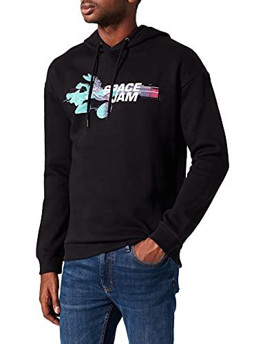 JACK & JONES JCOSPACE Jam Figure Sweat Hood Sweatshirt Capuche, Noir, S Homme