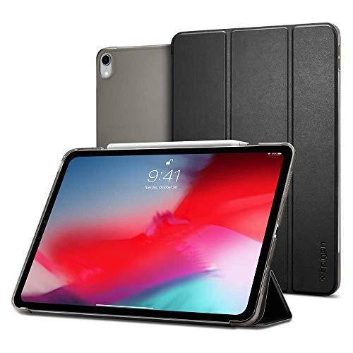 Spigen iPad Pro 12.9 ケース カバー 2018 スリム 軽量 スタンド Apple Pencil対応 オートスリープ カメラ保護 アイパッド プロ 第三世代 シュピゲン スマートフォールド 068CS25712 (ブラック)