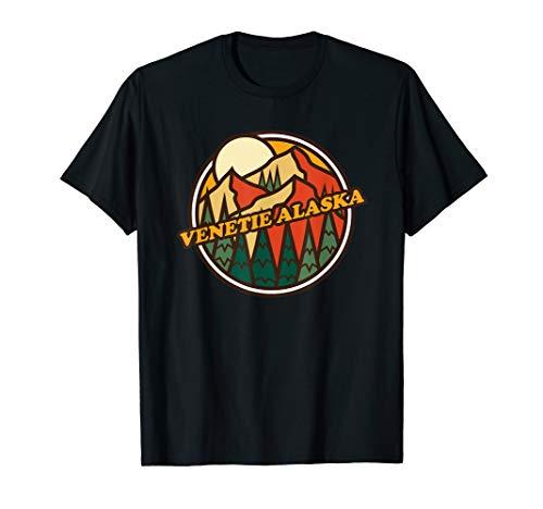 Vintage Venetie, Alaska Mountain Hiking Souvenir Print T-Shirt