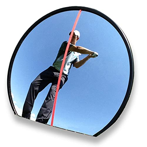 EyeLine Golf Portable 360-degree Mirror - Practice Swing with Confidence. See Total Swing and Stroke at Setup and During Swing. Use from face-on and Behind You. Adjustable Angles. Size 12 x 10.5 in