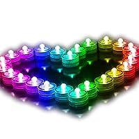 LEDの防水蝋燭ライト 防水電子キャンドル LED防水水槽ライト 水中鉢植え装飾ライト ダイビングキャンドルライト 水中キャンドル カフェバーキャンドルライト パーティー装飾ランプ 防水装飾ランプ (カラー)