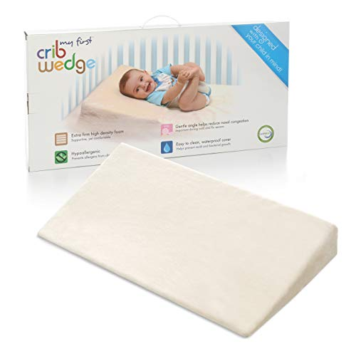 My First Crib Wedge or Baby Sleep Positioner Premium High-Density Foam