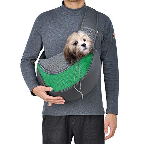 Top Star, borsa per cani di piccola taglia e portatile, per una rete traspirante, per viaggi a mano, per cani e gatti (grande, verde)