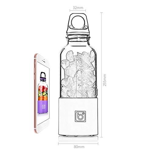 Mdsfe 500 ML électrique Juicer Cup Mini Portable USB Rechargeable Juicer Blender Maker Shaker Squeezers Fruit Orange Juice Extractor - Rose, A1