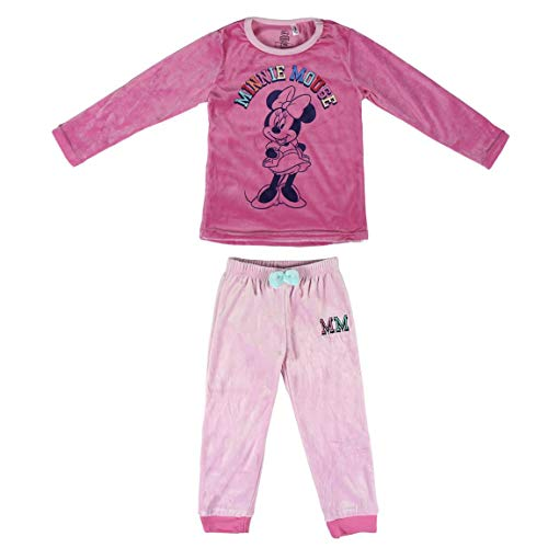 Artesania Cerda Pijama Largo Poly Minnie Conjuntos, Rosa (Rosa C08), 2 Años para Niñas