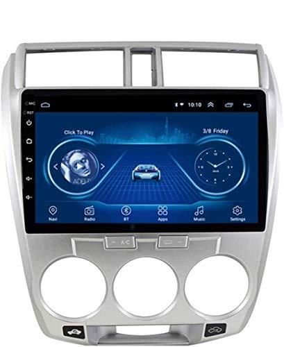 Android 8.1 Navegación Radio TV, pantalla táctil de 10,1 pulgadas, para Honda City 2008 – 2014, con DAB control de volante, Bluetooth, USB Estéreo Mirror Link, WiFi + 4 G: 2 + 32 G