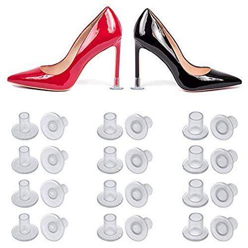 GingerUP 9 Paare Absatzschoner Stöckelstulpen Fersenschutz Stöckelschuh Absatzschutz Gastgeschenk High Heel Schutz Protectors für die Schuhe Stiletto Stöckelschuh mit S/M/L 3 Größe