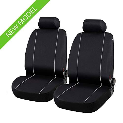 Coprisedili Anteriori compatibili per MERIVA Versione (2003-2010) compatibili con sedili con airbag, con Fori per i poggiatesta e bracciolo Laterale