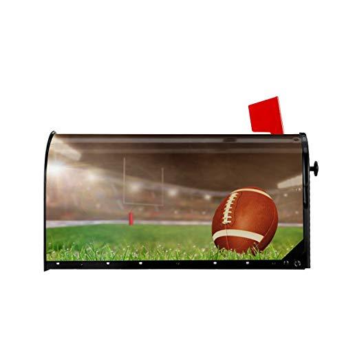 Briefkastenabdeckung mit American Football-Muster, magnetisch, für Briefkästen, Standard-Übergröße, 65 x 53 cm