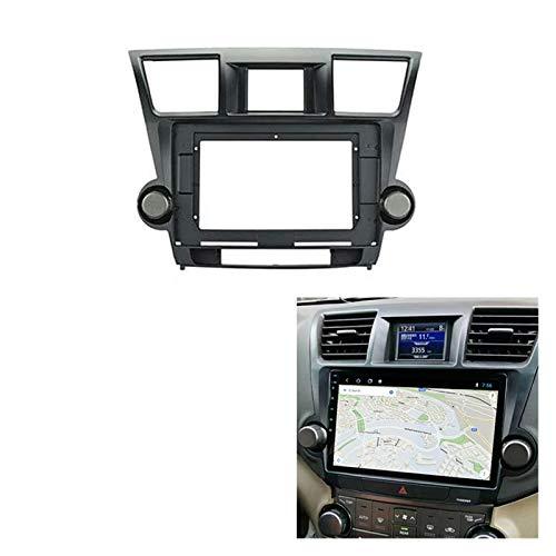 FangFang 10.1inch Car Radio Fascia Recorte Doble DIN Dash Panel DVD Frame Instalar Kit Fit para Toyota Highlander Kluger 2009-2013 (Color Name : Black)