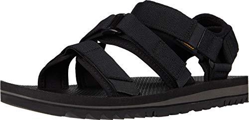 Teva Cross Strap Trail Sandal Mens Hiking Shoe, Black, 12 UK
